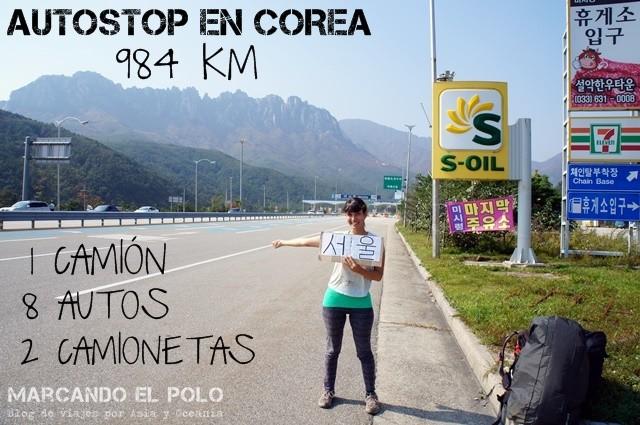 Autostop en corea