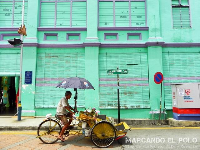 Conductor de rickshaw - Malasia