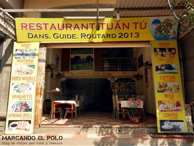 Tuan Tu, nuestro restaurante amigo en TamCoc