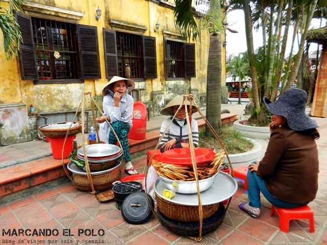 Vendedoras en Hoi an