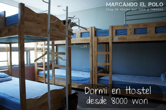 Presupuesto mochilero Corea Dormi Hostel