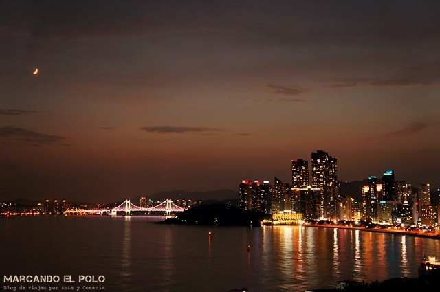 Hongdae beach de noche