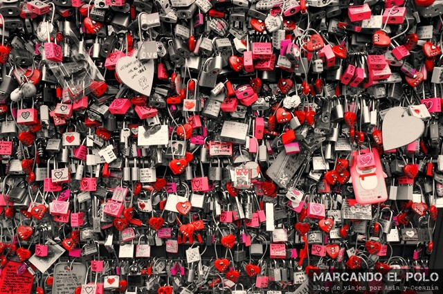 Amor en Namsan Tower