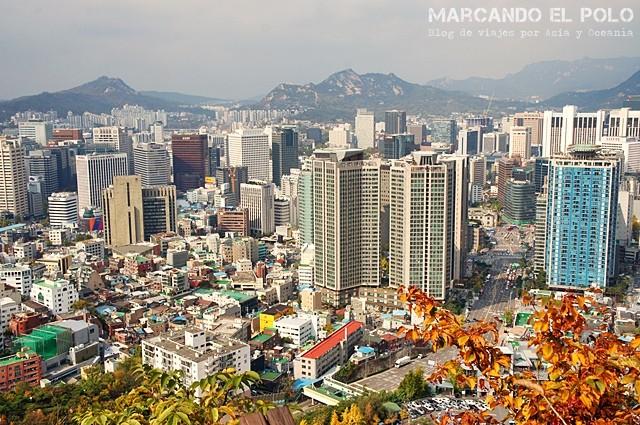 Vista de camino a Namsan Tower