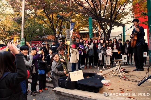 Música en las calles de Hongdae