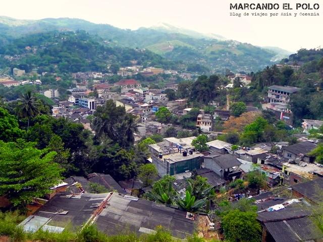 Kandy desde la colina