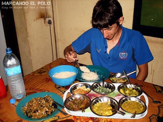 "Banquetazo de ""rice and curry"""