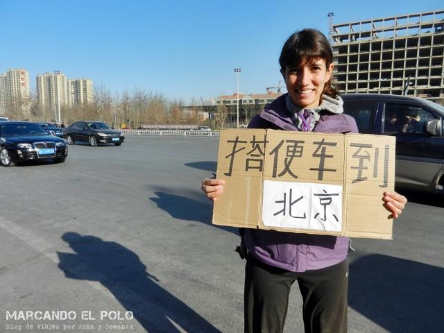 Viajando a dedo por China