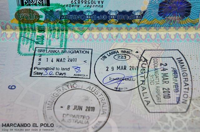 Consejos para viajar a Sri Lanka - visa de turista