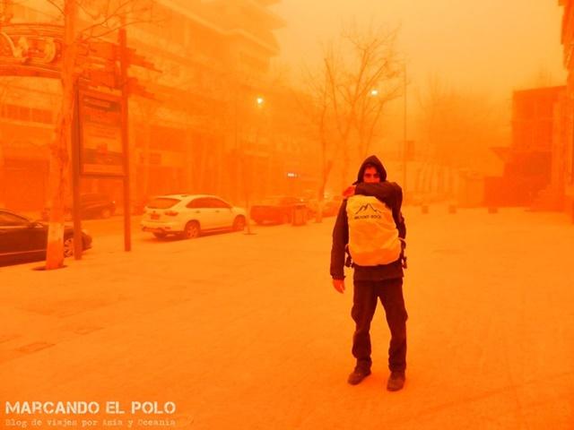 Viajar a China - Tormenta de arena Dunhuang