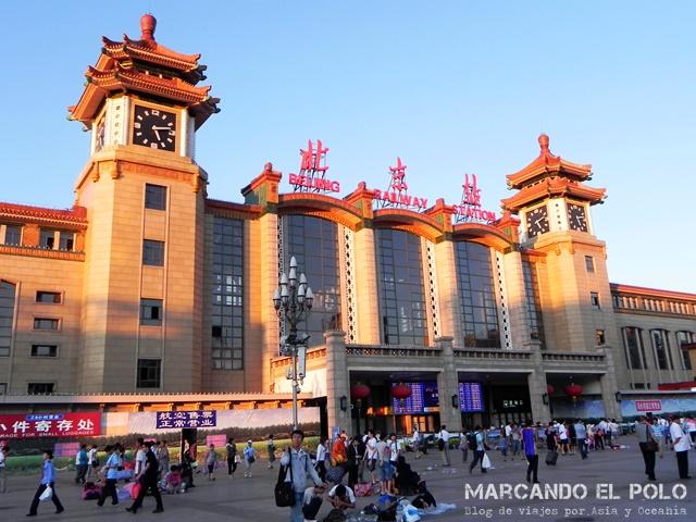 Consejos planear viaje por China - Tren Beijing
