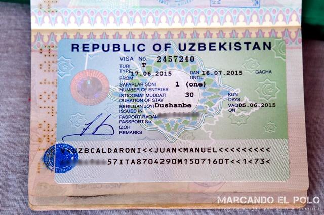 Visa de Uzbekistan