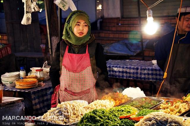¡Fideos para todos! Mercado nocturno