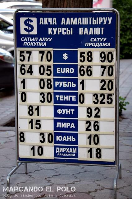 Presupuesto para viajar a Kirguistan - casa de cambio
