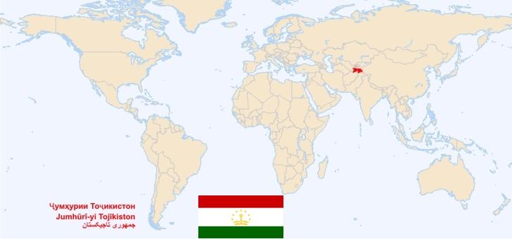 mapa tajikistan