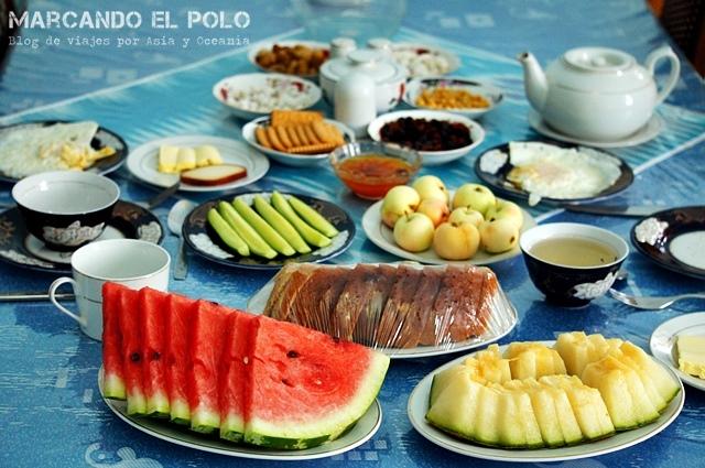 Todos los hoteles ofrecen desayuno