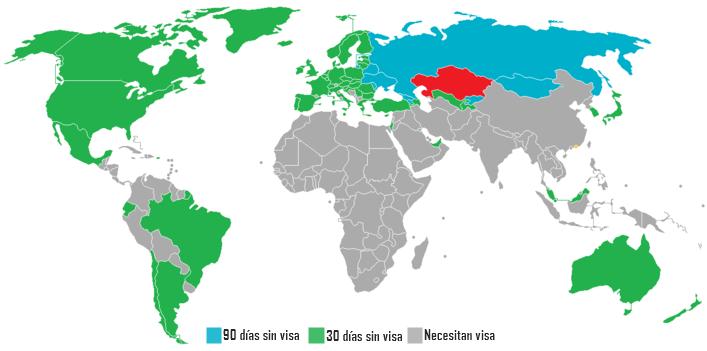 Viajar a Asia Central - Visa Kazajistan