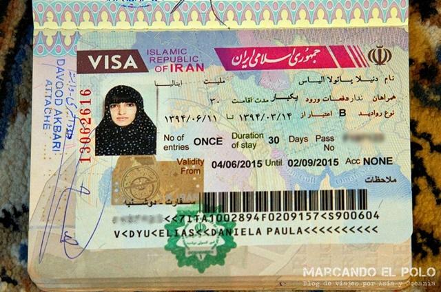 Visa para viajar a Iran