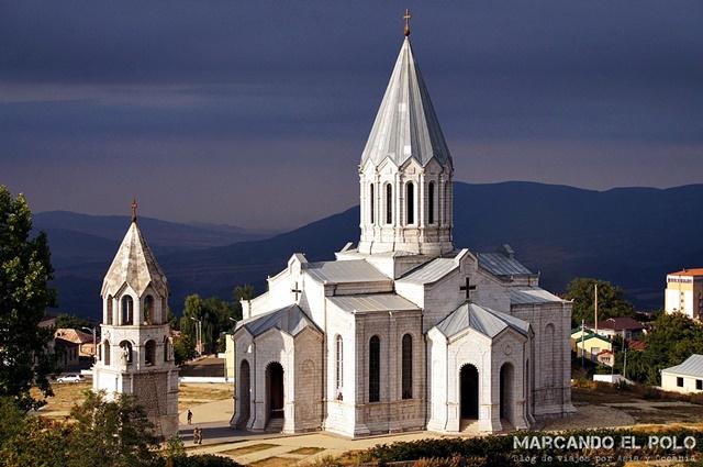 Catedral Ghazanchetsots en Shushi