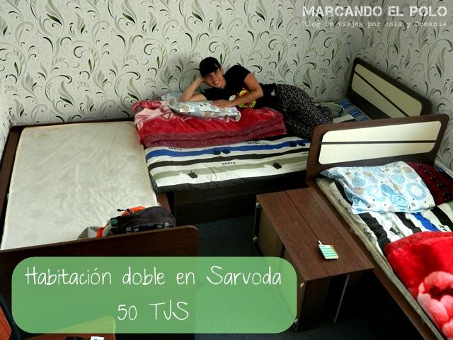 Presupuesto mochilero para viajar a Tayikistan - Hotel Sarvoda