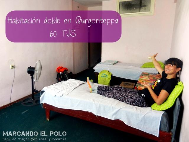Presupuesto mochilero para viajar a Tayikistan - Hotel Qurgonteppa