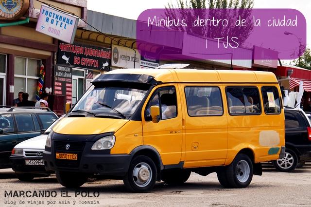 Presupuesto mochilero viajar a Tayikistan - Transporte marshrutka