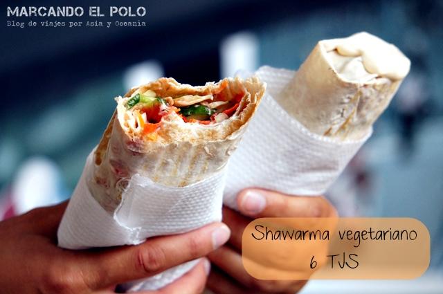 Presupuesto-mochilero-para-viajar-a-Tayikistan - Comida shawarma