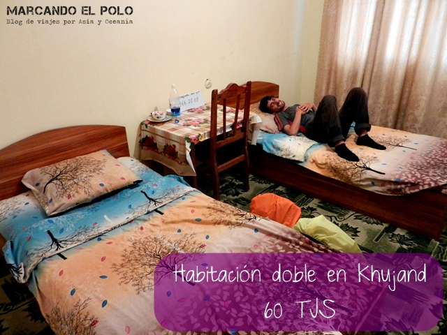Presupuesto mochilero para viajar a Tayikistan - Hotel en Khujand