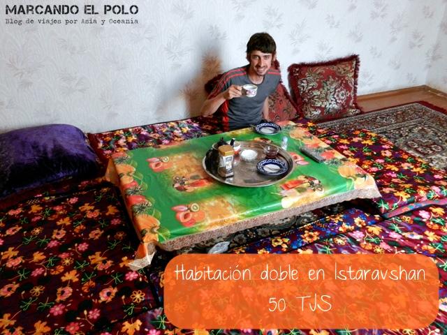 Presupuesto mochilero para viajar a Tayikistan - Habitación doble
