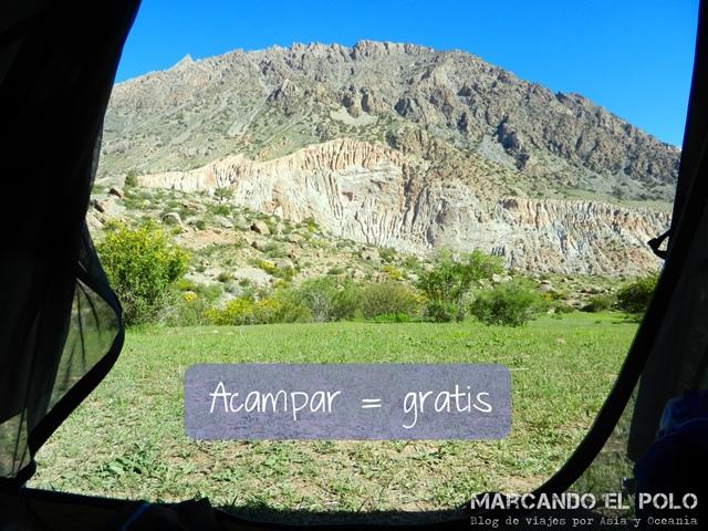Presupuesto mochilero para viajar a Tayikistan - camping