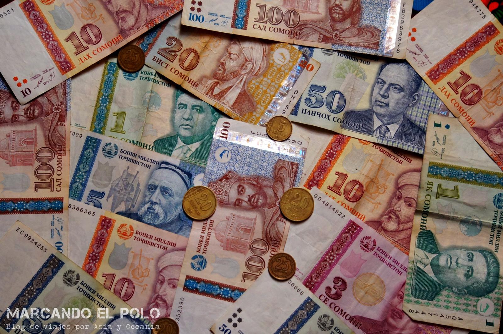 Presupuesto mochilero viajar a Tayikistan - Somoni