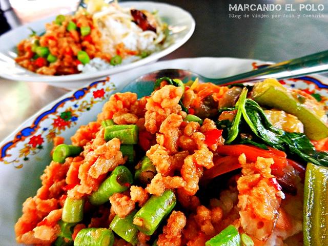 Comida vegetariana en Tailandia