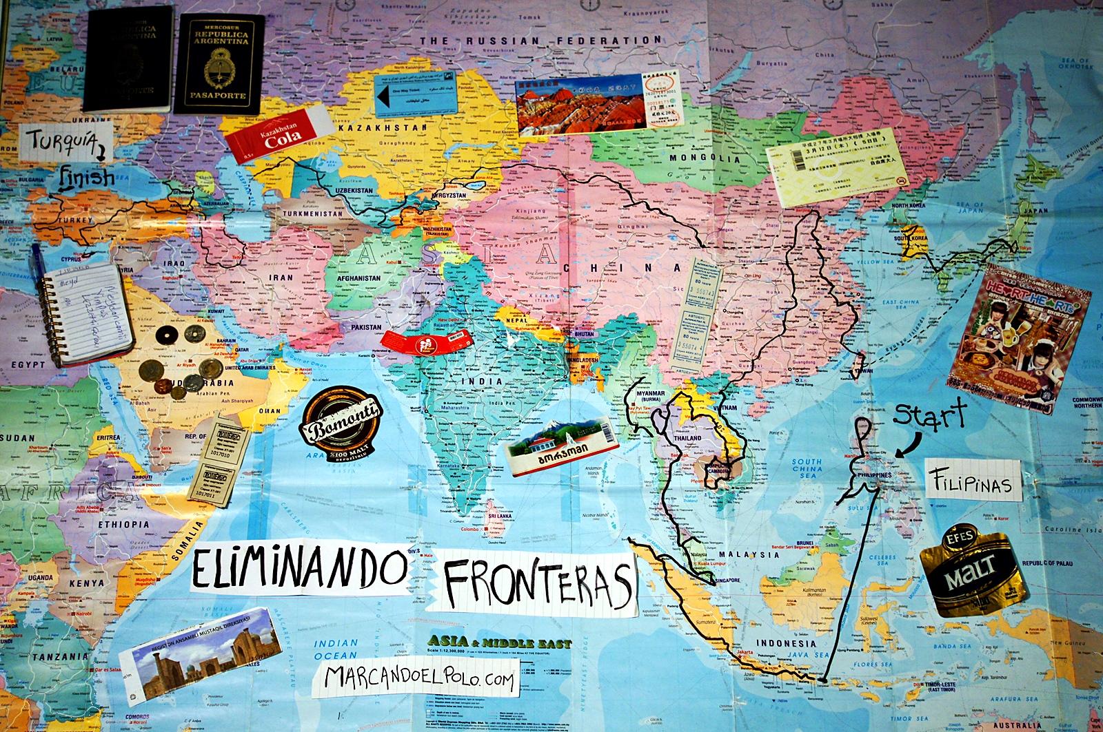 Eliminando Fronteras mapa