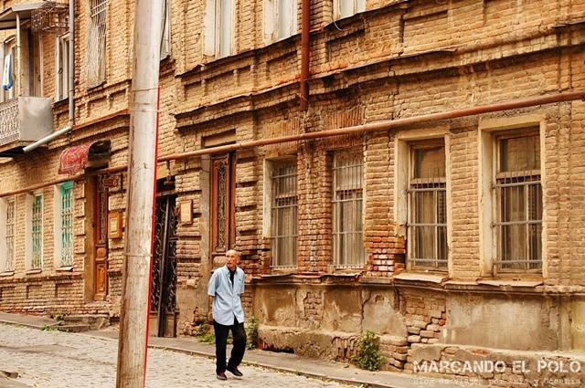 Barrio viejo de Tiflis, Georgia