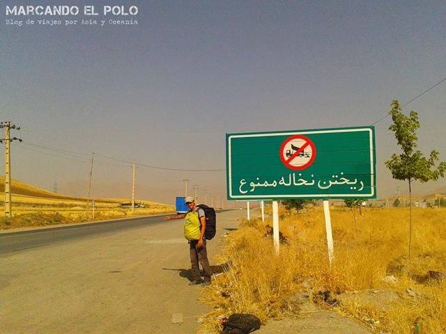 Autostop en Iran 13