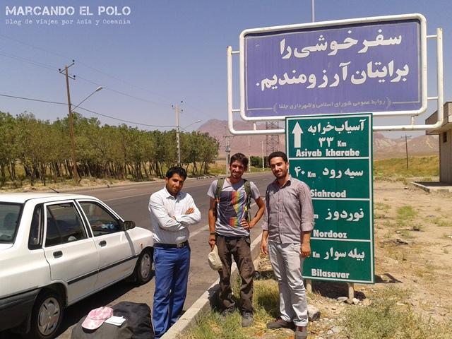 Viajar a dedo Irán - frontera Armenia