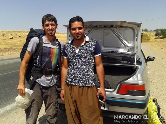 Viajar a dedo Irán - Kurdistán