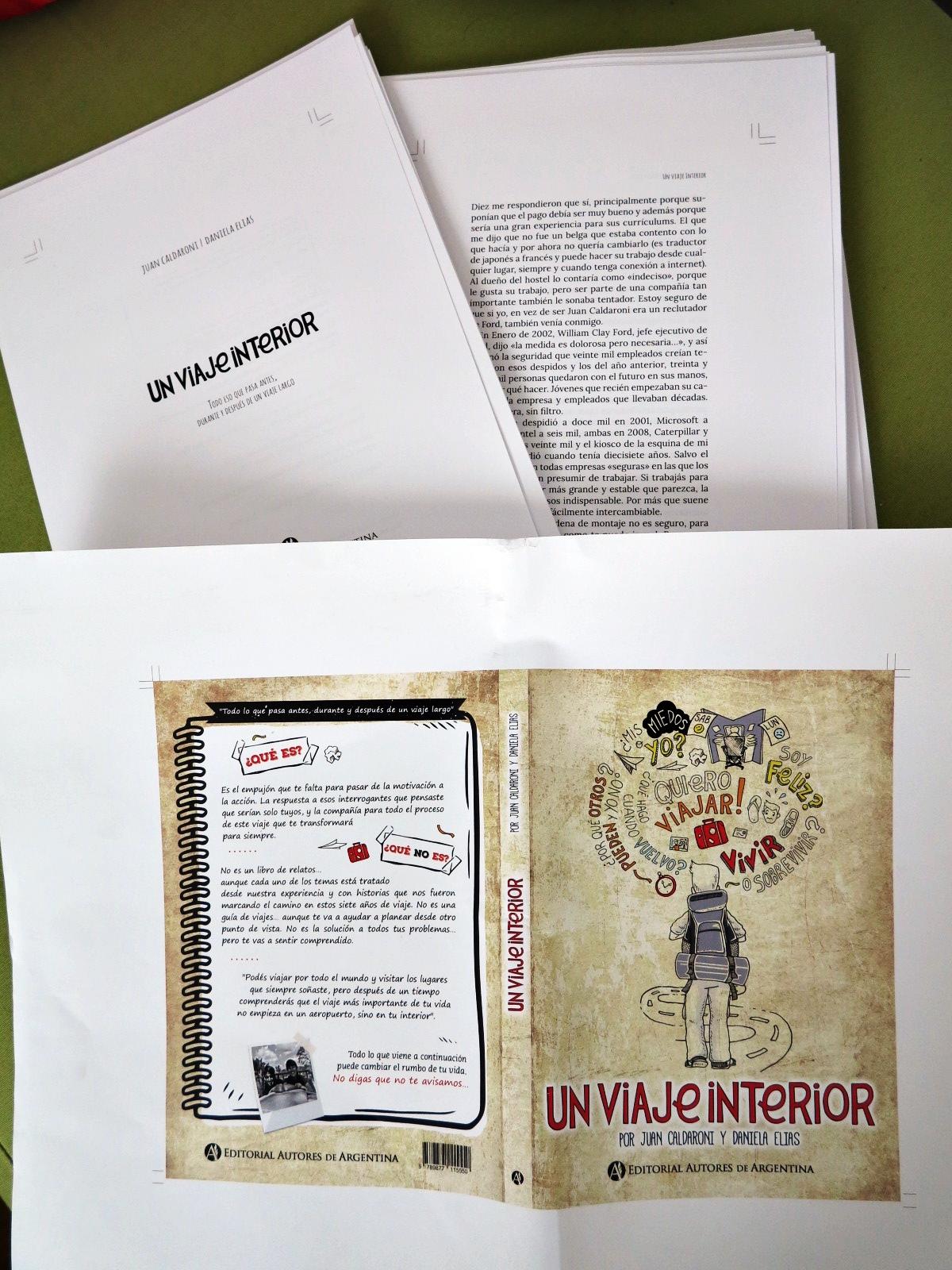 Prueba de impresión, el libro está en camino. Gracias por la foto a Pablo e Iziar de ungranviaje.org