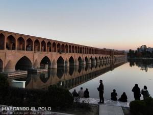 Viajar a Irán - Puente Si-o-seh, Isfahan