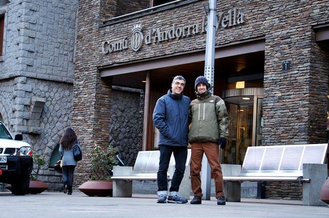 ¡Por fin en Andorra! Con Xavi, el culpable de todo esto.