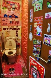 Guia para viajar a Japon - baño de Kitty en Tokio