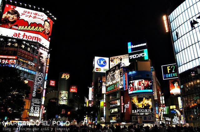 Viajar a Japon - Shibuya noche, Tokio