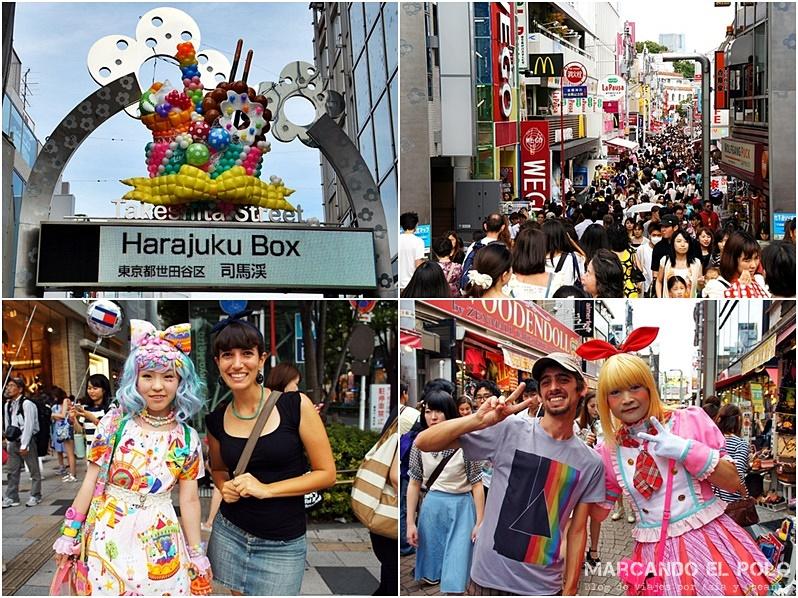Un domingo cualquiera por Takeshita St.