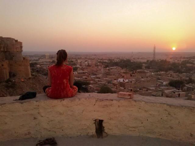 Atardecer en Jaisalmer - María Diego