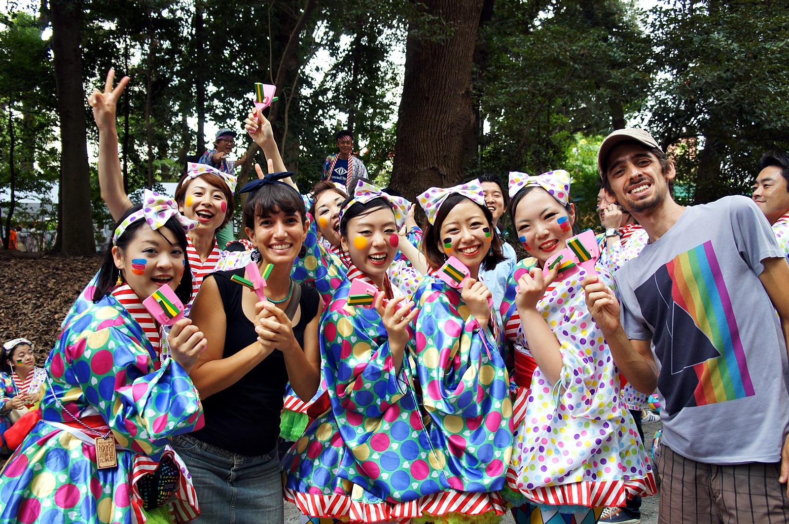 Viajar a Japon - festival en Tokio
