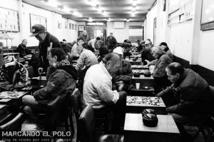 Los pibes jugando shogi
