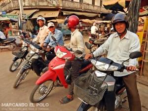 Transito en Camboya