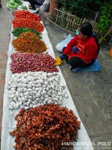 Morning market en Luang Prabang