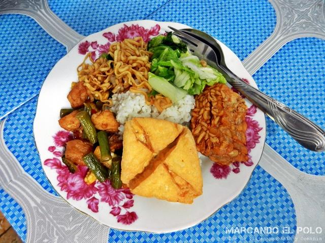 Comida Sudeste asiatico - Nasi campur, Indonesia