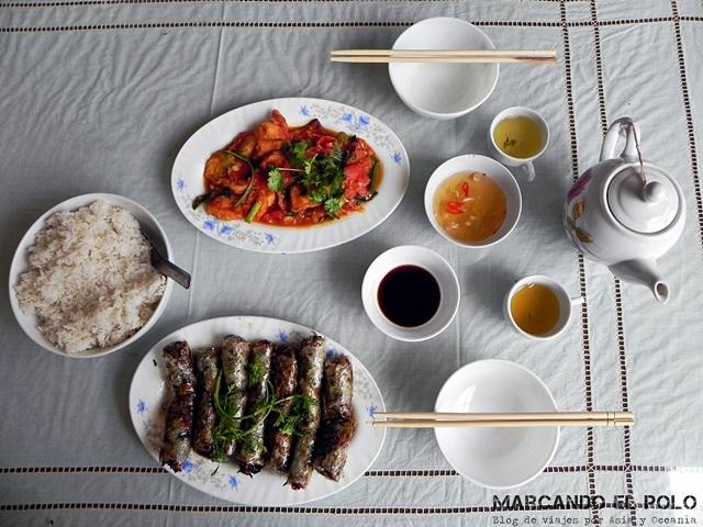 Guo cuoi con su salsa y otras delicias vietnamitas